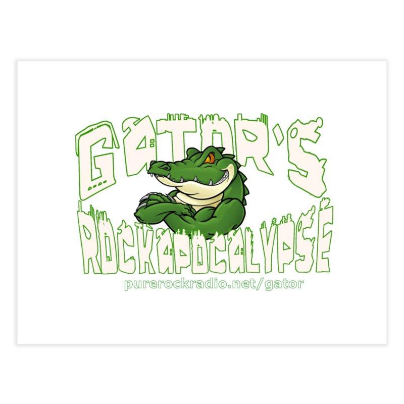 Gator's Rockapocalypse - Transparent Logo 2 Home Fine Art Print by Gator's Rockapocalypse