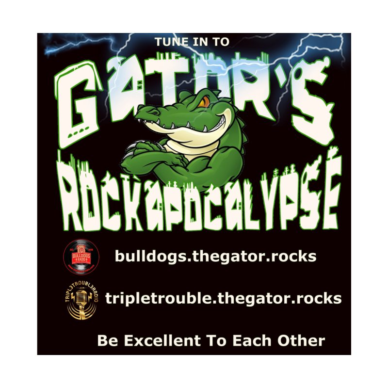 Gator's Rockapocalypse LIVE Show Home Fine Art Print by Gator's Rockapocalypse LIVE Show Mech