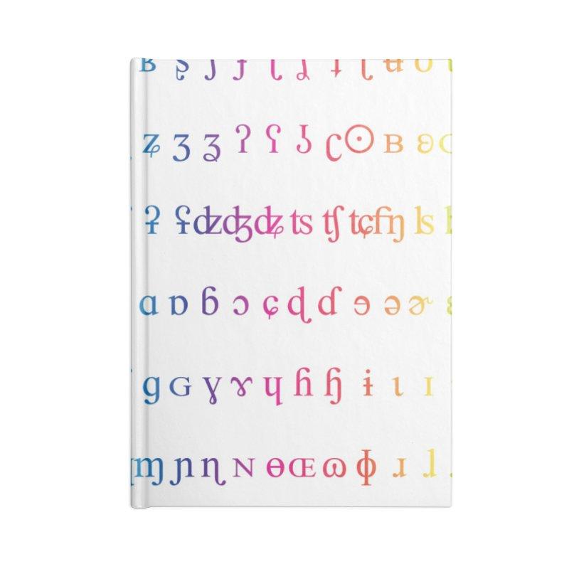 IPA Rainbow White Accessories Notebook by gattacho's Artist Shop
