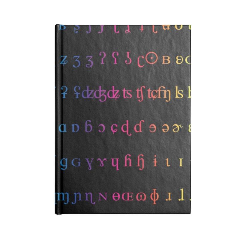 IPA Rainbow Black Accessories Notebook by gattacho's Artist Shop