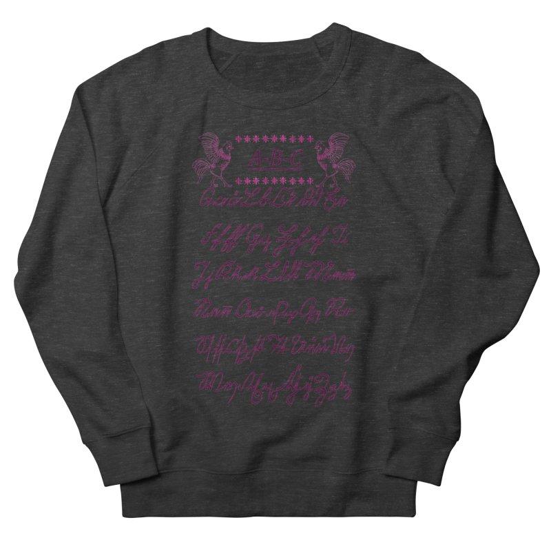 Mexican Mennonite Handwriting (Pink Glow) Women's Sweatshirt by gattacho's Artist Shop