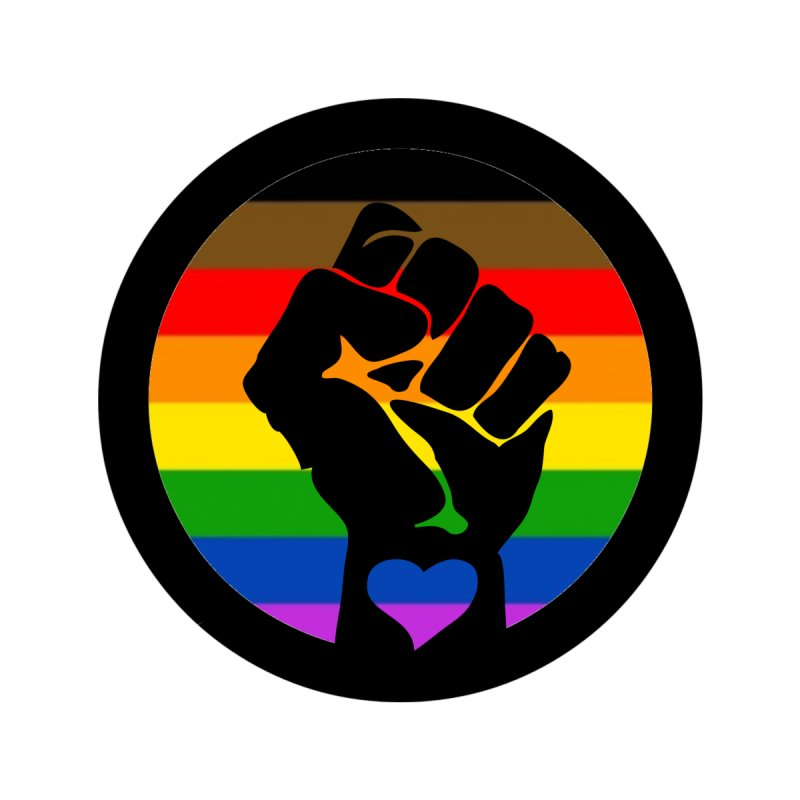 Black Queer Lives Matter   BLM Fist Rainbow Flag Unisex T-Shirt by Gay Frog Studios