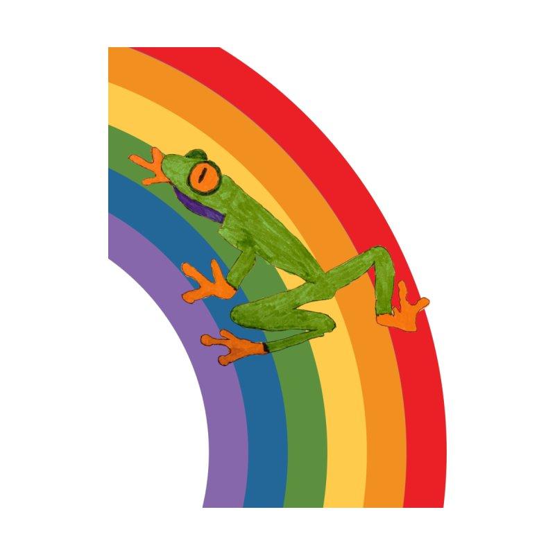 Frog Climbing a Rainbow Unisex T-Shirt by Gay Frog Studios