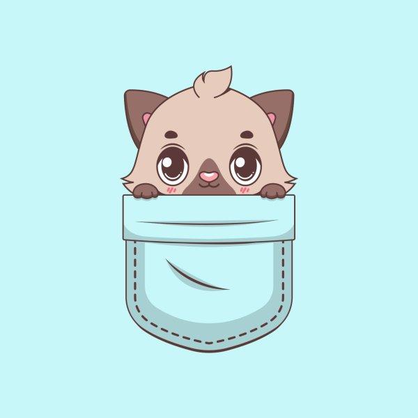 image for Kawaii kitten in pocket design
