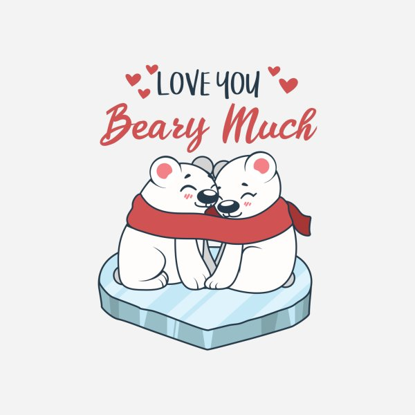 image for Love you beary much pun design