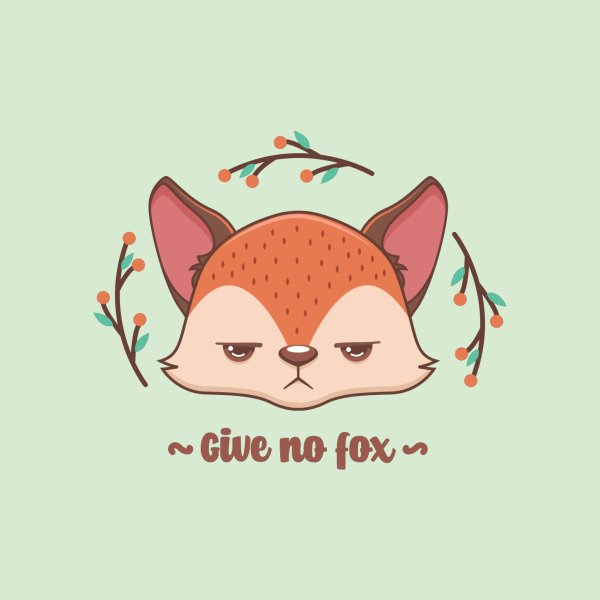 image for Give no fox pun design