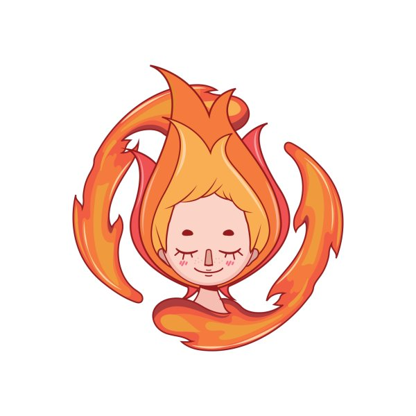 image for Stylized girl depicting the fire element