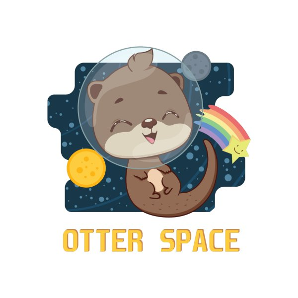 image for Otter space pun design