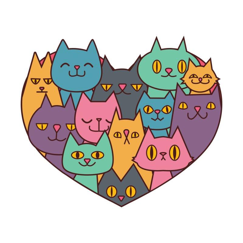 Cats in my heart Women's T-Shirt by GazingNeko's Artist Shop