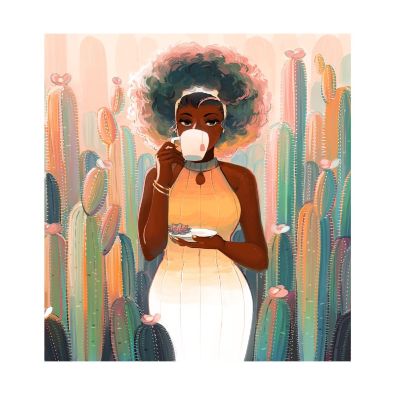Cacti Tea Men's T-Shirt by Geneva B