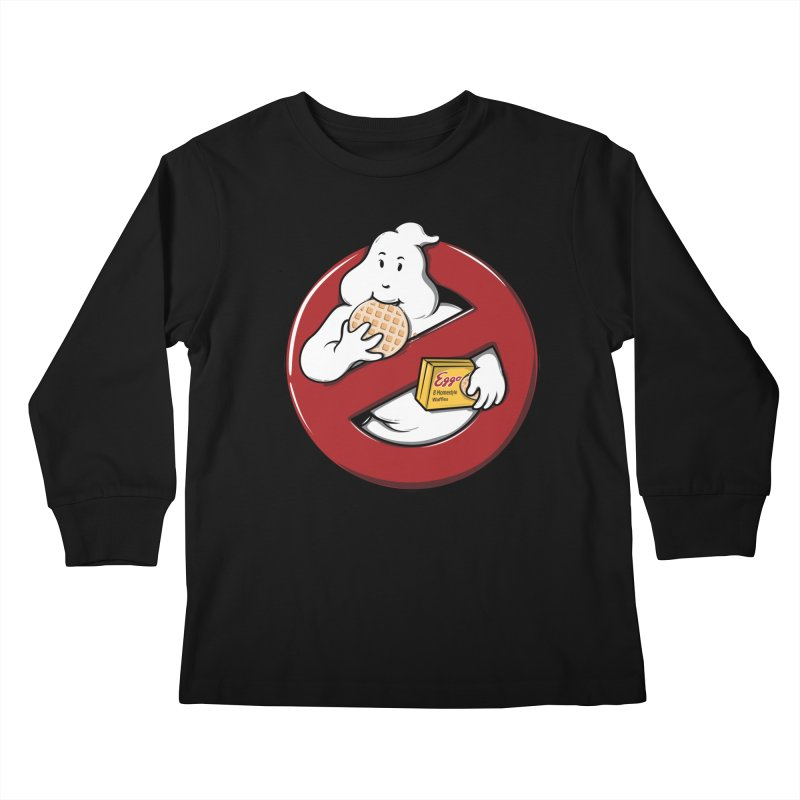Eggo Buster Kids Longsleeve T-Shirt by GED WORKS