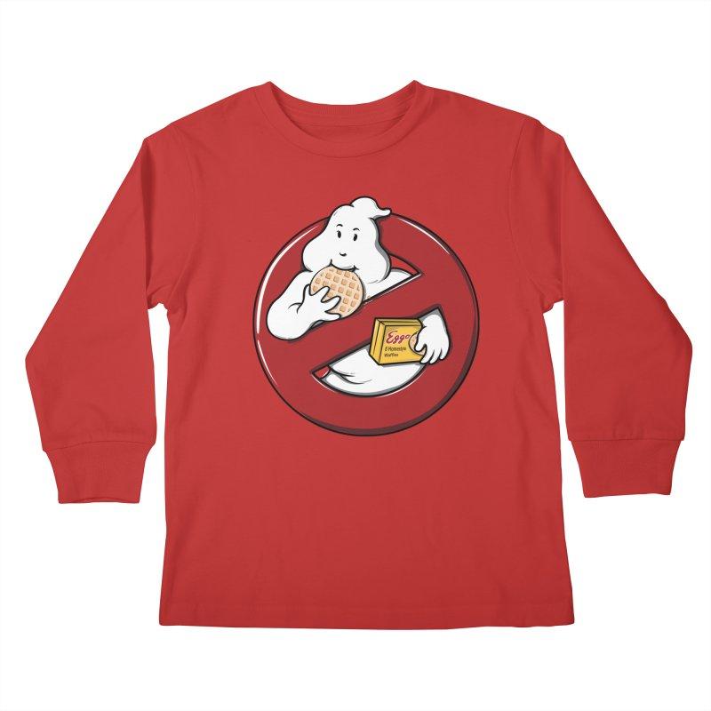 Eggo Buster Kids Longsleeve T-Shirt by GED WORKS