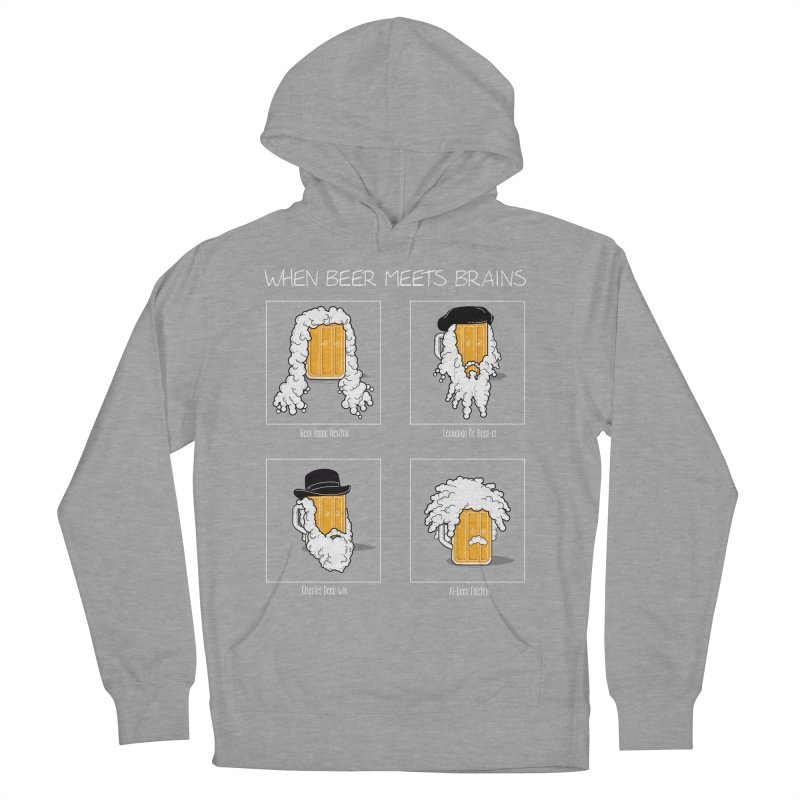 Beer Meets Brains Men's Pullover Hoody by GED WORKS