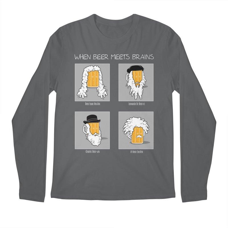 Beer Meets Brains Men's Longsleeve T-Shirt by GED WORKS