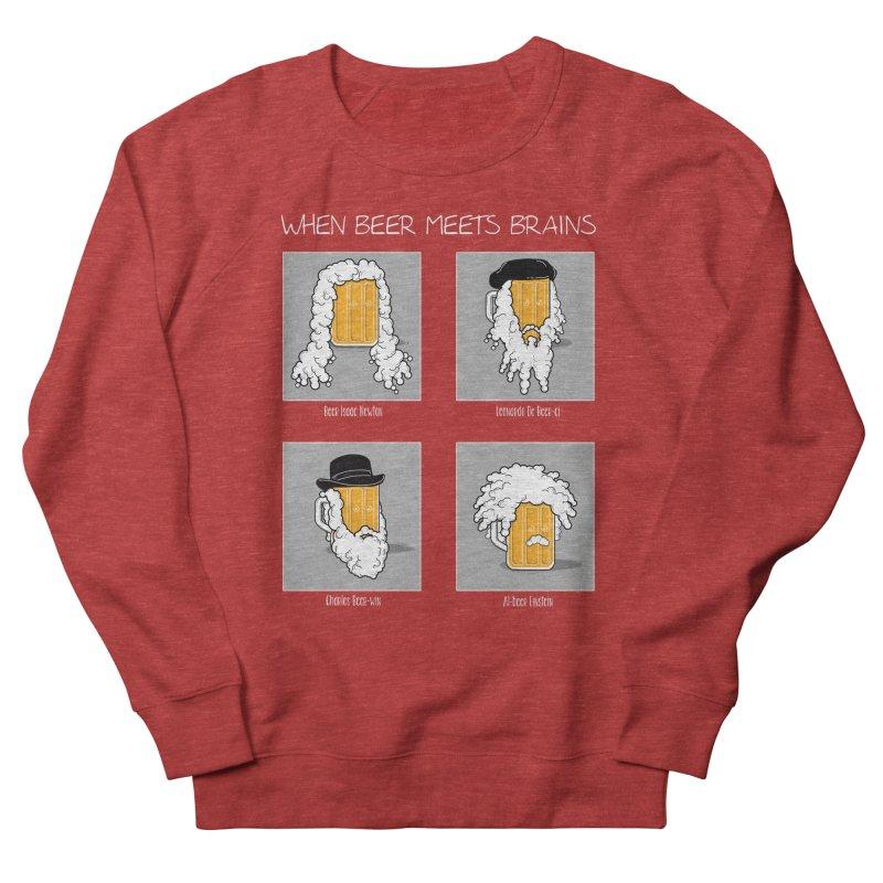 Beer Meets Brains Women's Sweatshirt by GED WORKS