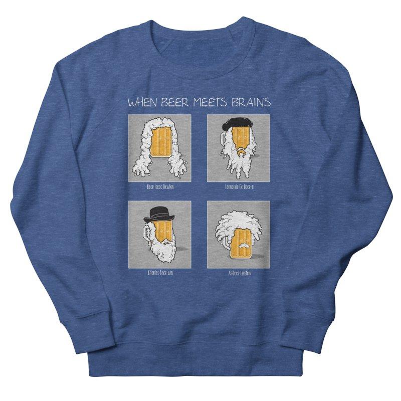 Beer Meets Brains Men's Sweatshirt by GED WORKS