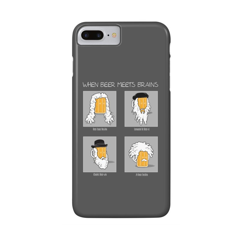 Beer Meets Brains Accessories Phone Case by GED WORKS