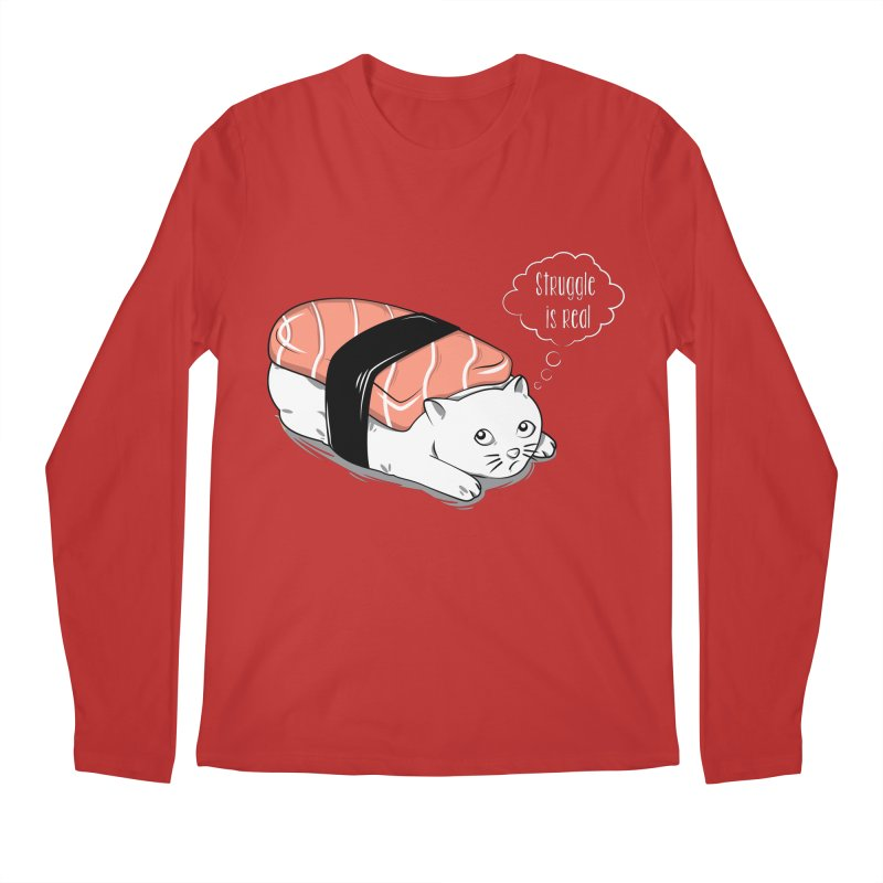 Pushi Cat Men's Longsleeve T-Shirt by GED WORKS