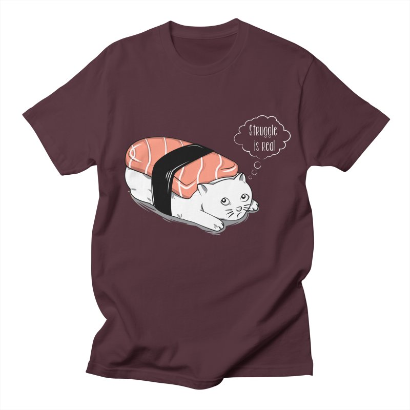 Pushi Cat Men's T-shirt by GED WORKS