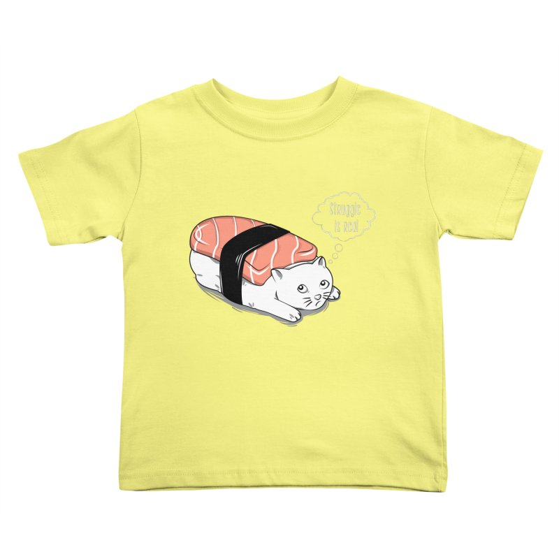 Pushi Cat Kids Toddler T-Shirt by GED WORKS