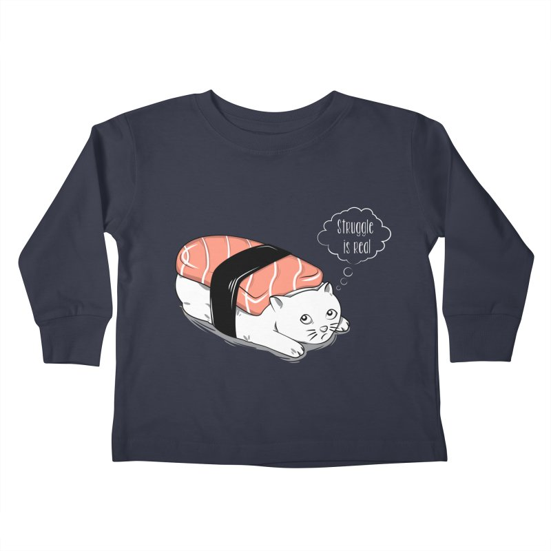 Pushi Cat Kids Toddler Longsleeve T-Shirt by GED WORKS