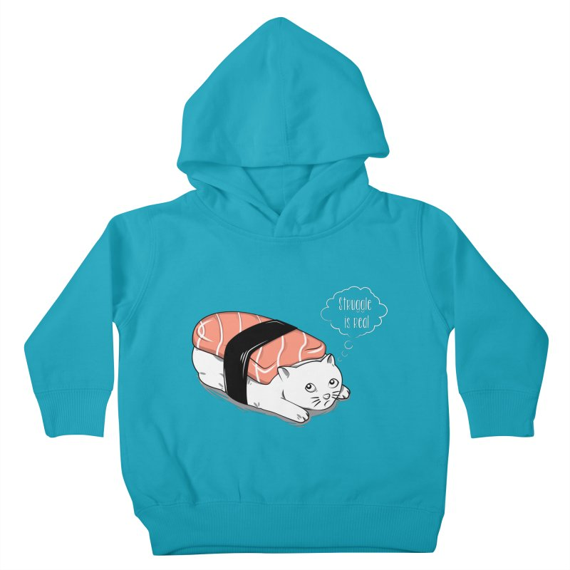 Pushi Cat Kids Toddler Pullover Hoody by GED WORKS
