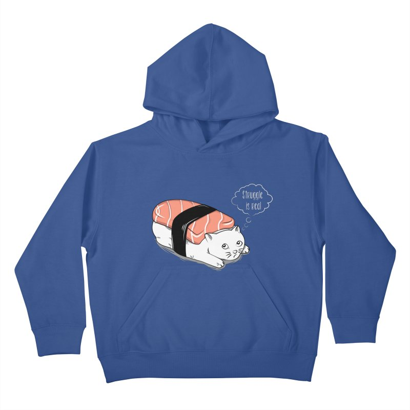 Pushi Cat Kids Pullover Hoody by GED WORKS