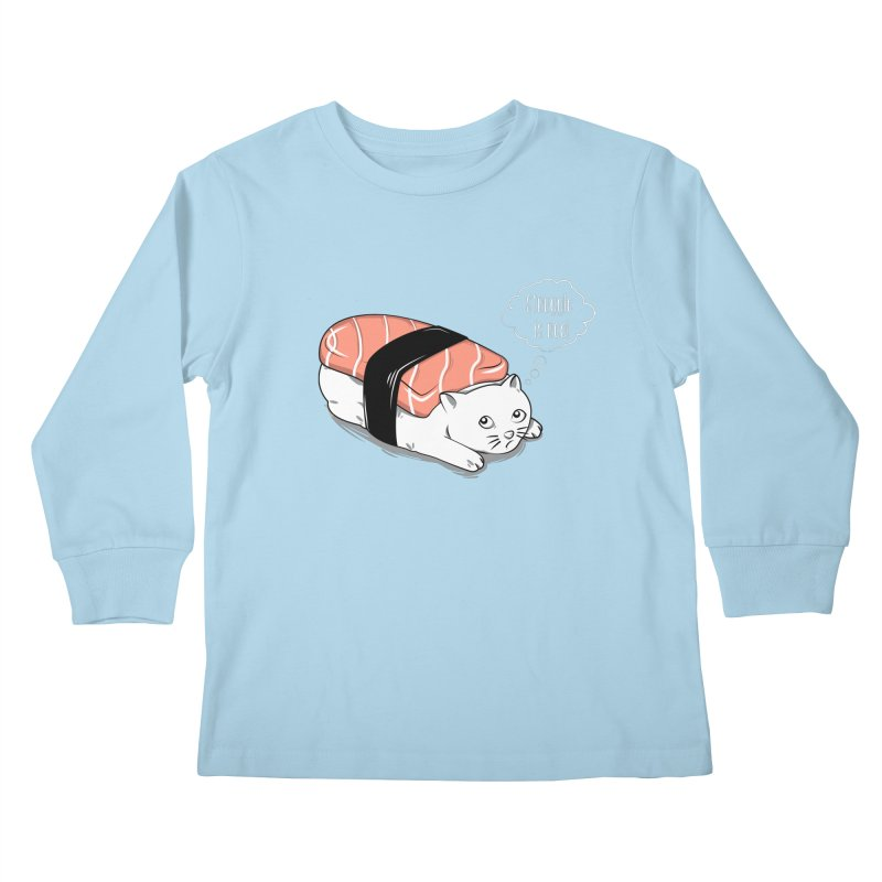 Pushi Cat Kids Longsleeve T-Shirt by GED WORKS