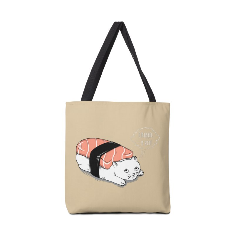 Pushi Cat Accessories Tote Bag Bag by GED WORKS