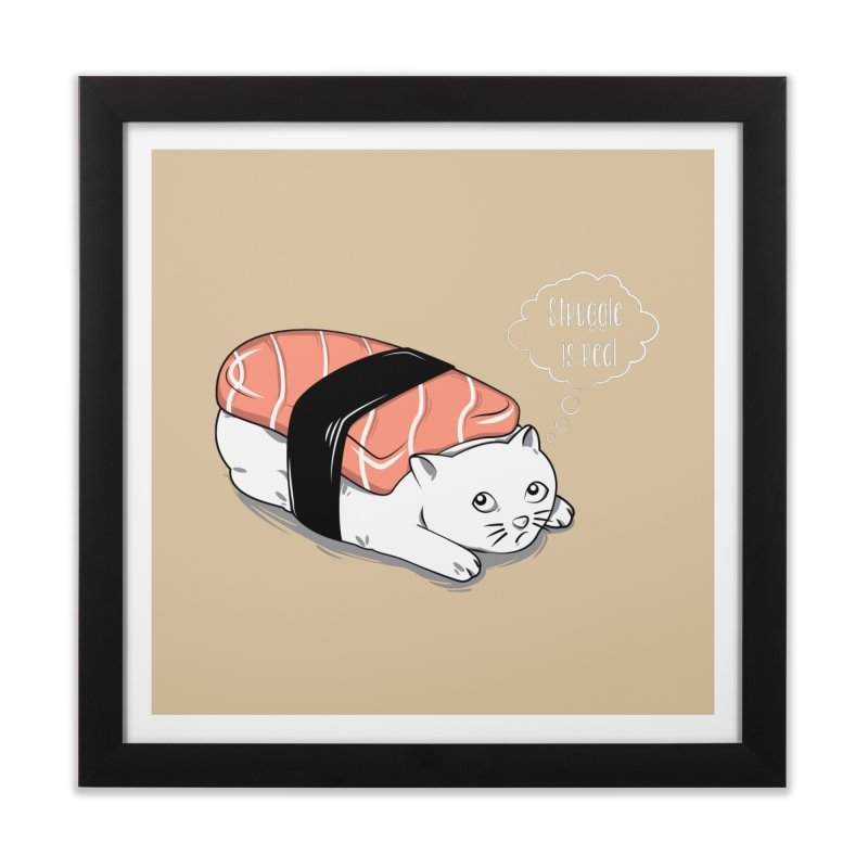 Pushi Cat Home Framed Fine Art Print by GED WORKS