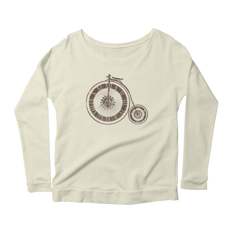 Time Cycle Women's Longsleeve Scoopneck  by GED WORKS