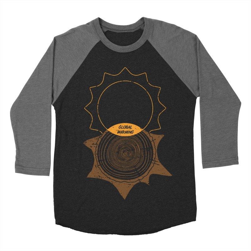 Global Warming Men's Baseball Triblend Longsleeve T-Shirt by GED WORKS