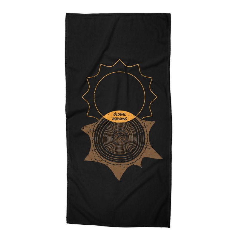 Global Warming Accessories Beach Towel by GED WORKS