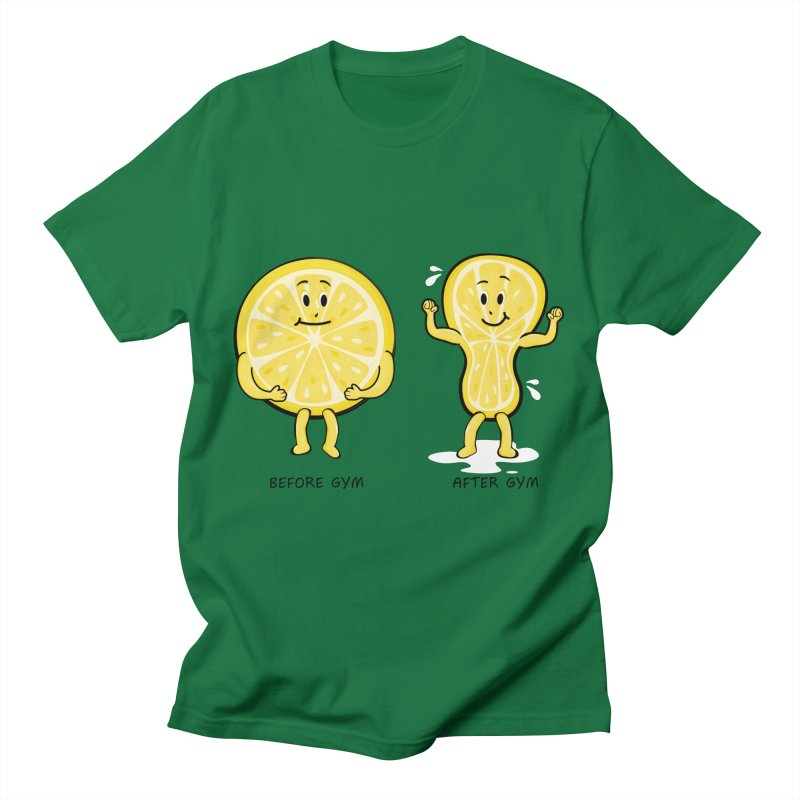 Lemon Gym Men's T-Shirt by GED WORKS