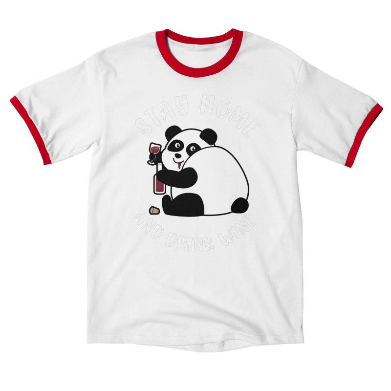 Panda Drinks Wine Women's T-Shirt by GED WORKS