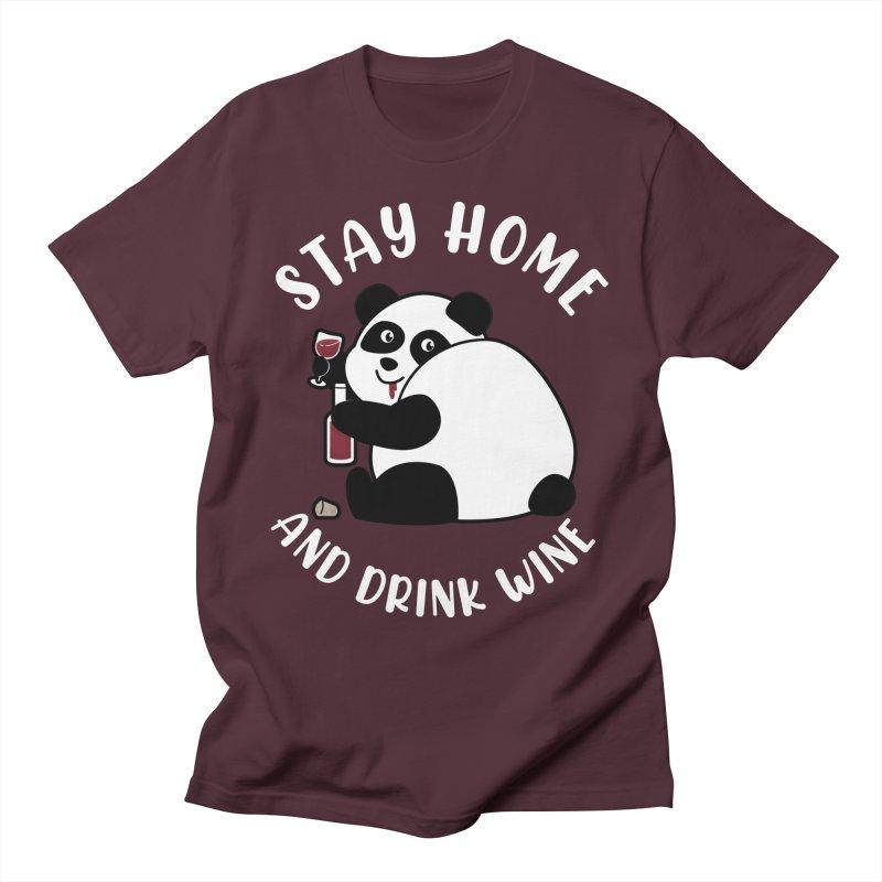Panda Drinks Wine Men's T-Shirt by GED WORKS
