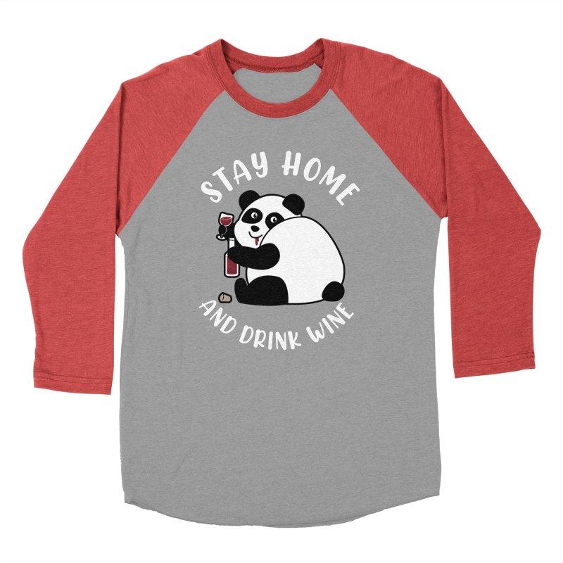 Panda Drinks Wine Women's Longsleeve T-Shirt by GED WORKS