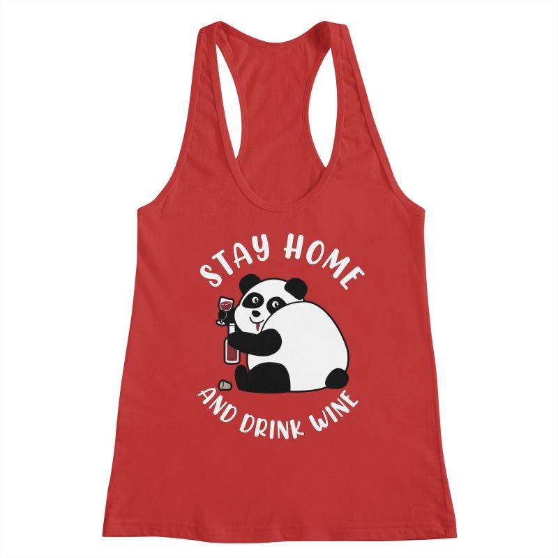 Panda Drinks Wine Women's Tank by GED WORKS