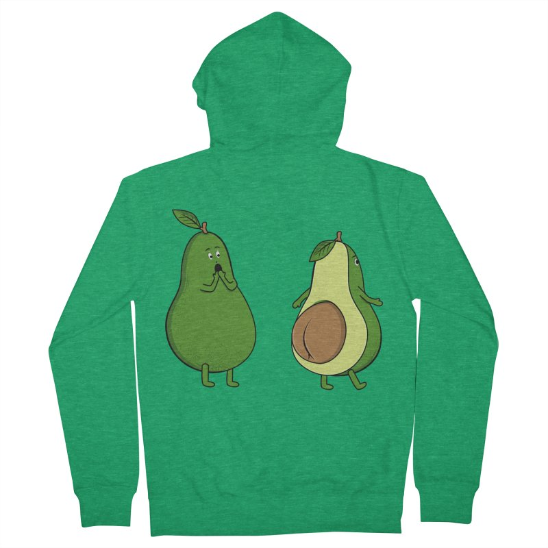 Avocado Butt Expose Women's Zip-Up Hoody by GED WORKS
