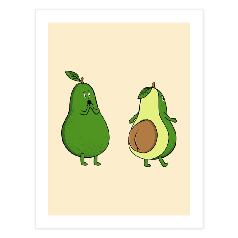 Avocado Butt Expose Home Fine Art Print by GED WORKS