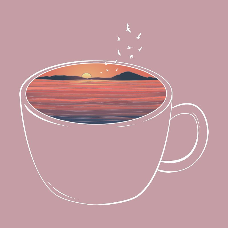 A Cup of Sunset Women's T-Shirt by GED WORKS