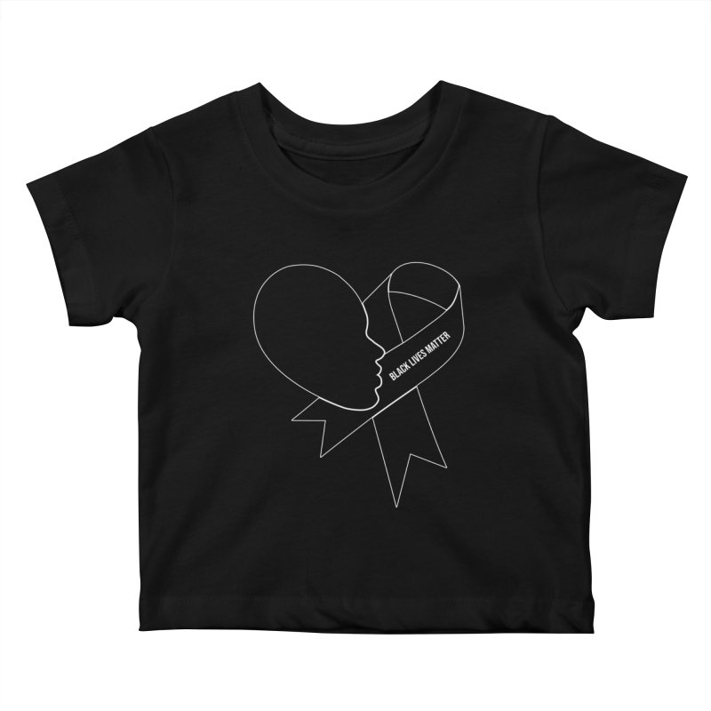 Black Lives Matter Heart Kids Baby T-Shirt by GED WORKS