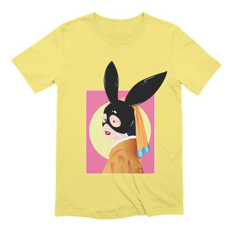The Girl with a Black Rabbit Mask Men's T-Shirt by GED WORKS
