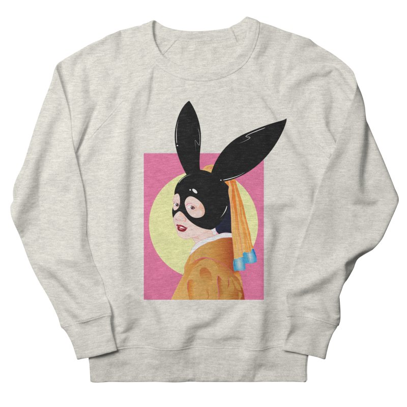 The Girl with a Black Rabbit Mask Women's Sweatshirt by GED WORKS