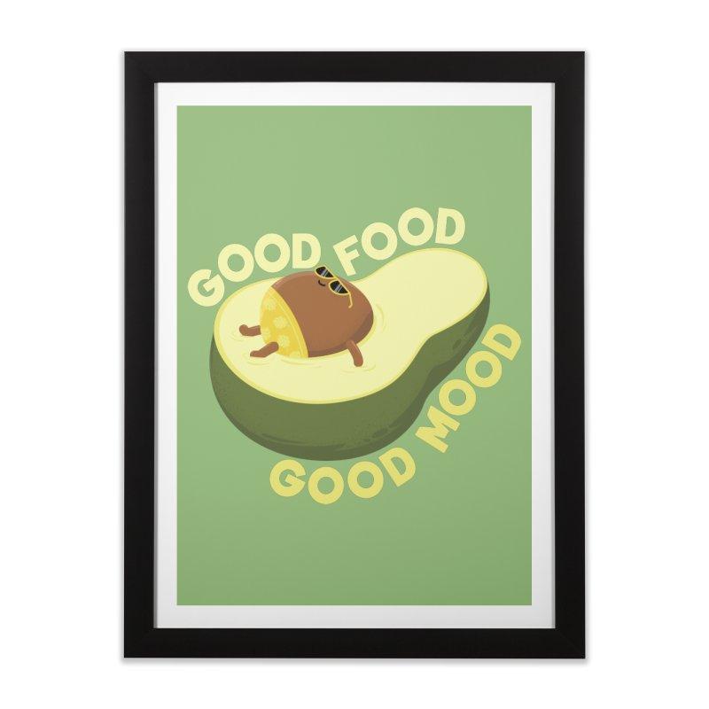 Avocado Good Food Home Framed Fine Art Print by GED WORKS