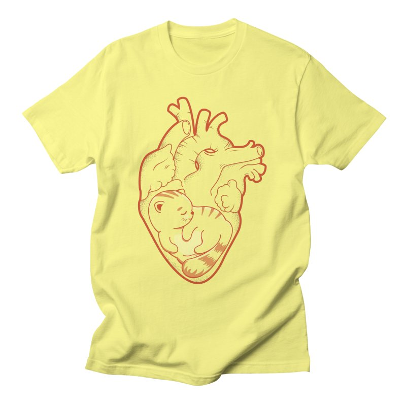 Cat at Heart Men's T-Shirt by GED WORKS