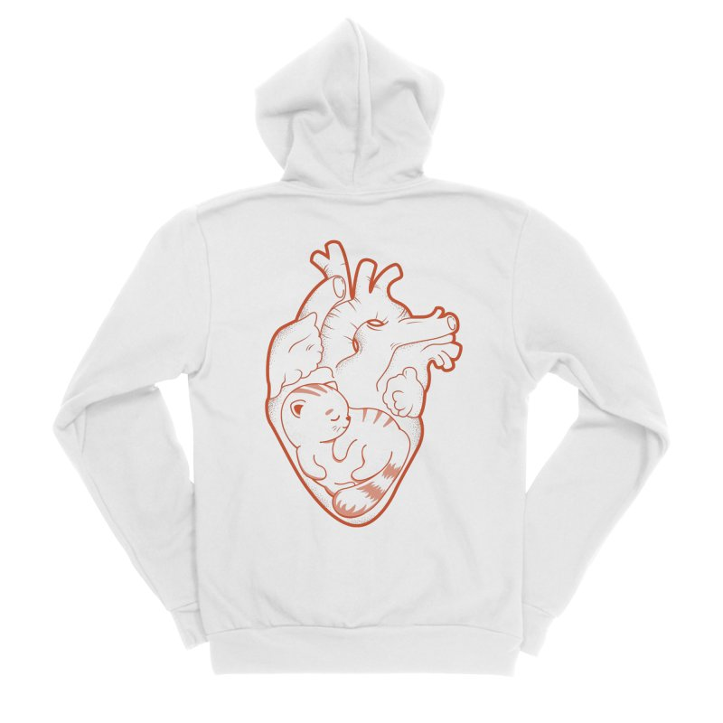 Cat at Heart Women's Zip-Up Hoody by GED WORKS