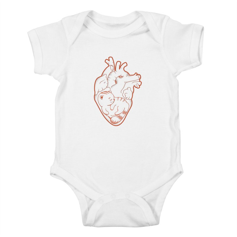 Cat at Heart Kids Baby Bodysuit by GED WORKS