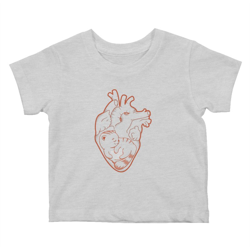 Cat at Heart Kids Baby T-Shirt by GED WORKS