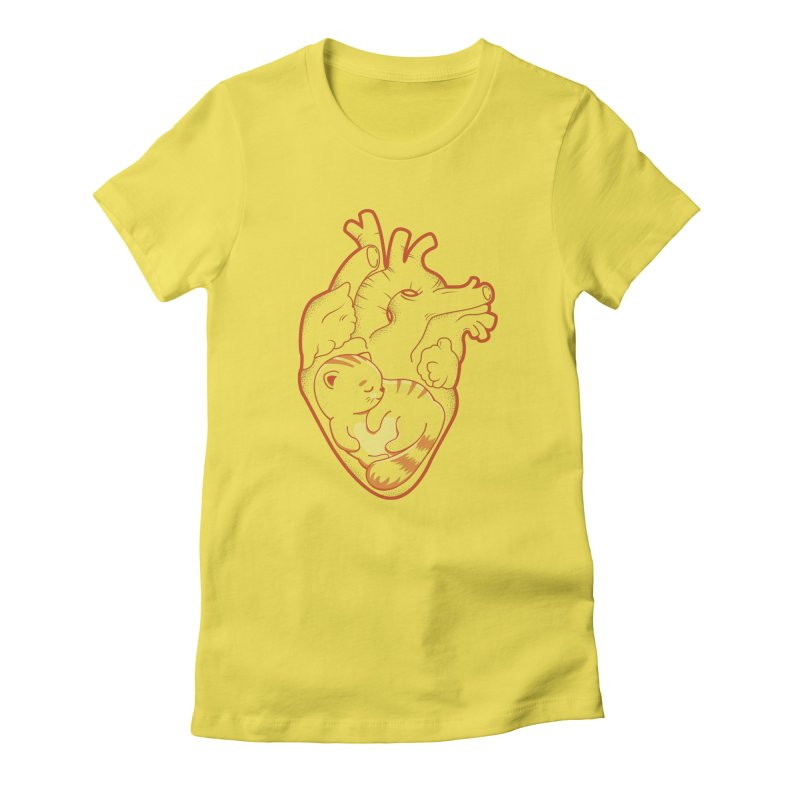 Cat at Heart Women's T-Shirt by GED WORKS